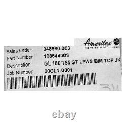 Glastron 180 185 GT Ameritex 108644003 Red Aluminum Boat Bimini Top 072-4225