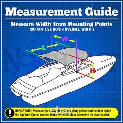 Grey 3-Bow 1 Frame BIMINI TOP Cover Boat 6'L x 46H x 67-72W Storage Boot