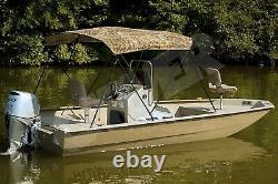 H-Duty Camo Camouflage-USA MADE- Boat Bimini Top 48tall x 91-96wide x 96long