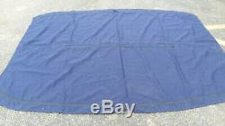 Heavy Blue 7ft x 9ft 3 bow Bimini top canvas with zippered sleeves for the bows