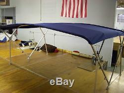 Houseboat Bimini Top 10' x 8' Sunbrella 1.25 Frame Front Braces