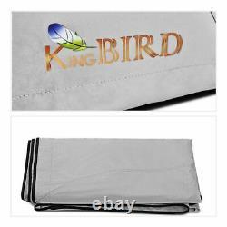 KING BIRD Bimini Top 3 Bow 73-78 Boat Cover Canopy Outdoor Shelter Sun Shade