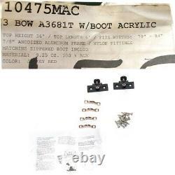 Mac Boat Bimini Top 1047MAC 79-84 Inch Jockey Red Solid Frame A3681T