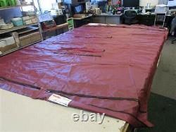 Misty Harbor 2016 Bimini Aft & Bow Top Cover W / (2) Boots Burgundy 10' Boat
