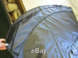 Misty Harbor Bimini Top Cover Black 111 W X 113 1/4 Long (4) Bow Marine Boat