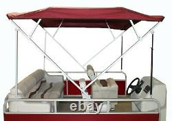 Navy Complete 1 Square Frame Pontoon Boat Bimini Top 8', 90-98 Wide