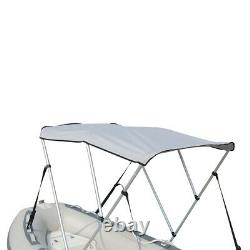 New 3-Bow Portable Bimini Top Cover Sun Canopy Suit 12 -13 ft Inflatable Boat