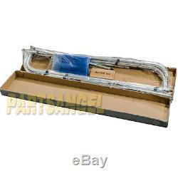New Bimini 4 Bow Top Boat Cover Blue 96L 54H 85-90W Rear Poles