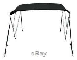 New Boat Bimini Top Cover 3 Bow 54 H x 67-72 W Solution Dye Black