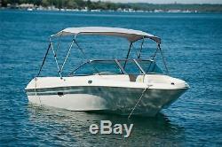 New Komo Covers Boat Bimini Top 46H x 6'L x 54-60W (Grey), with Boot, Hardware