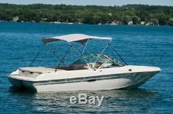 New Komo Covers Boat Bimini Top 46H x 6'L x 54-60W (Grey), with Boot, Hardware