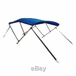 New Komo Covers Boat Bimini Top 46H x 6'L x 61-66W (Blue), with Boot, Hardware