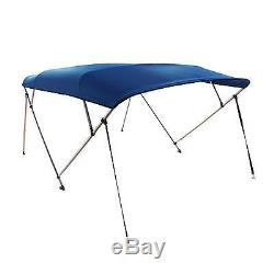 New Komo Covers Pontoon Boat Bimini Top 10'X97-103X54 with Boot, Hardware, Blue