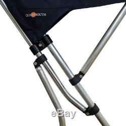 Oceansouth 3 Bow Bimini Top with Rocket Launcher 4ft Length 51- 59 Black
