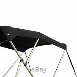 Oceansouth BIMINI TOP 3 Bow Boat Cover Black 61-66 Wide 6ft Long With Rear Poles
