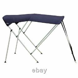 Oceansouth BIMINI TOP 3 Bow Boat Cover Blue 61-66 Wide 6ft Long With Rear Poles