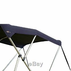 Oceansouth BIMINI TOP 3 Bow Boat Cover Blue 73-78 Wide 6ft Long With Rear Poles
