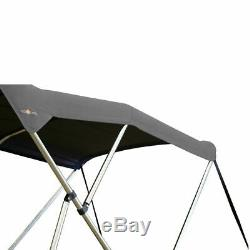 Oceansouth BIMINI TOP 3 Bow Boat Cover Gray 61-66 Wide 6ft Long With Rear Poles