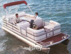 PONTOON BOAT COVER, BIMINI TOP AND PARTIALLY ENCLOSED DECK-20'6 x 102 Beam