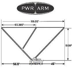 PWR ARM II Automatic Power Pontoon Bimini Top with Anodized Frame Burgundy