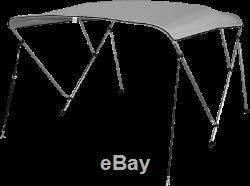Pactrade Marine Boat 3 Bow Bimini Top Canopy Cover UV Waterproof Grey Pigment