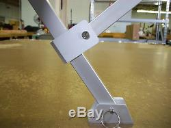 Pontoon Bimini Top 12' long-Sunbrella 1.25 Frame Metal Fittings Front Braces