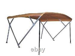 Pontoon Bimini Top 8' Long Sunbrella 1 Frame Metal Fittings