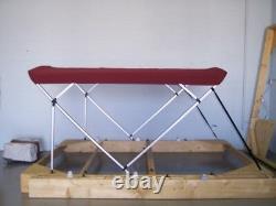 Pontoon Bimini Top 9'Long -Sunbrella 1 Frame Standard Fittings