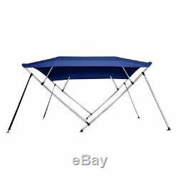 Pontoon Bimini Top Boat Cover 4 Bow 54 H 91 96 W 8 ft. L. Solution Dye Blue