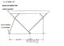 Pontoon Boat Bimini Top 8x8 metal fittings 5 year warranty 1 frame