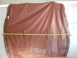 Pontoon Boat Bimini Top Burgundy 4 Bow SW86 Canopy 44075 120''L 108W