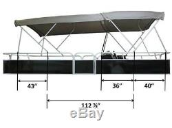 Pontoon Double Bimini top 19' long, 96'' wide, 1.25'' alu frame/hardware+zippers