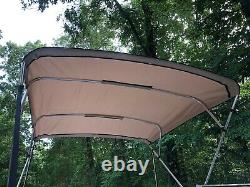 Replacement Bimini Top Canvas with boot, Beige, 8' x 8', 16oz, Lifetime Warranty