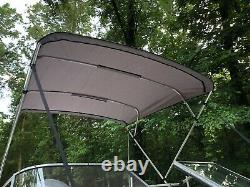 Replacement Bimini Top Canvas with boot, Grey, 8' x 8', 16oz, Lifetime Warranty