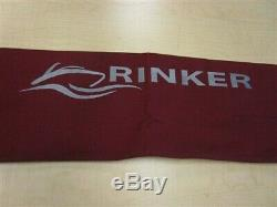 Rinker 246 Bimini Top Cover With Boot And Sleeve Maroon 79 3/4 X 85 1/4 Boat