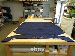 Rinker 246 Radar Arch Bimini Top With Boot Dark Blue 114901r46 Marine Boat