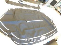 Rinker 276 (16) Radar Arch (3) Piece Camper / Bimini Top Cover Set Black Boat