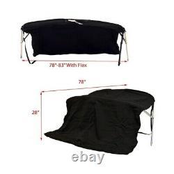 Rinker Boat Wakeboard Bimini Top 111607008 210 Black 78 83 Inch