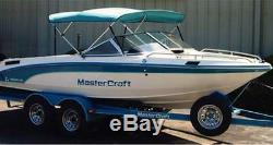 Round Tube 3 Bow Boat Bimini Top 91-96w X 54h X 6'l Sunbrella Acrylic