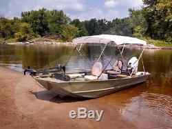 Round Tube 4 Bow Boat Bimini Top 79-84w X 60h X 8'l Sunbrella Acrylic