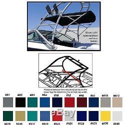 SUNBRELLA BOAT BIMINI TOP CENTURION CONCOURSE With SKYLON TUNA TOWER 2002