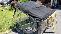Scout 202 Dorado Boat Bimini Top with full clear plastic enclosure