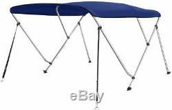 Seamander 3 Bow Bimini Boat Top Cover, Canopy Mounting Hardware 6'L x 46H x 85