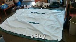 Sedona Pontoon Bimini top 4 bow 8.5 ft x 9 ft by Lexington Seating (Dark Green)