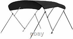 SereneLife 3 Bow Bimini Top Canvas Sun Shade Boat Canopy -1 Double Wall Aluminu