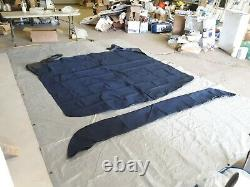 Shademate 4-Bow Pontoon Bimini Buggy Top Fabric Only, 8'L x 90-96W, Navy 0087