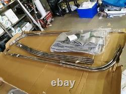Shademate 4-Bow Sunbrella Bimini Top, 8'L x 54H, 91-96 Wide, Grey 1767