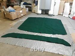Shademate Bimini Top 4-Bow, Sunbrella, 8'L x 54H, 91-96 Wide, Green 1060