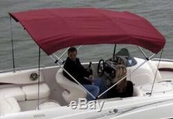 Shademate Bimini Top Sunbrella Skin & Boot 3-Bow 5'L, 32H, 54-60W-Burgandy-NEW