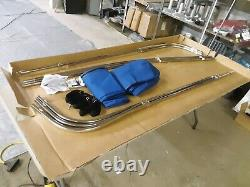 Shademate Polyester 3-Bow Bimini Top 6'L x 54''H 91''-96''W, Royal Blue 993